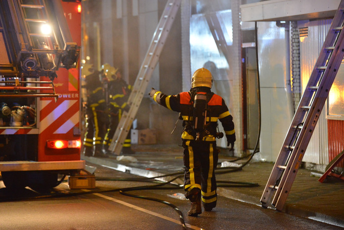 Brand bij Indiaas restaurant Curry Inn in Breda.