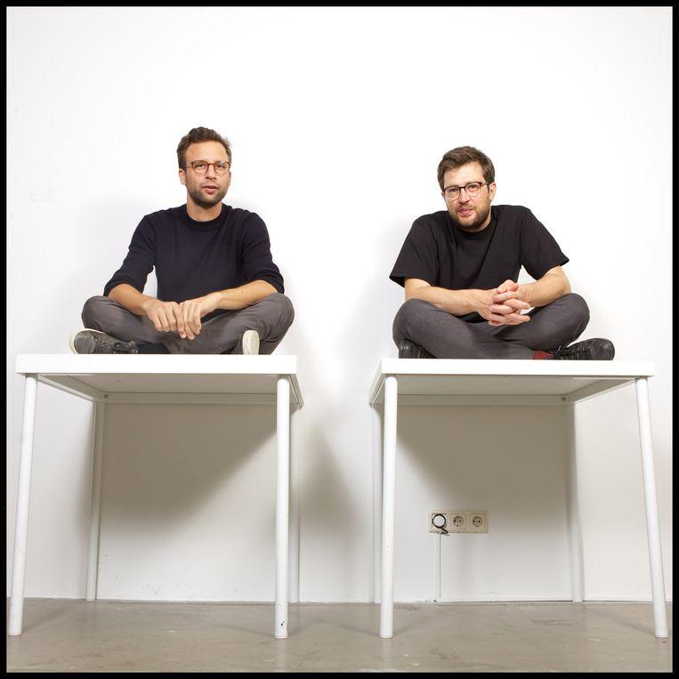 Daniel van der Meer (links) en Toine Donk (rechts), oprichters van uitgeverij Das Mag. Beeld Stijn Rademaker / HH