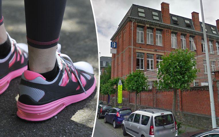 Wie vanmorgen sportschoenen droeg, kon terugkeren naar huis om andere schoenen aan te trekken.