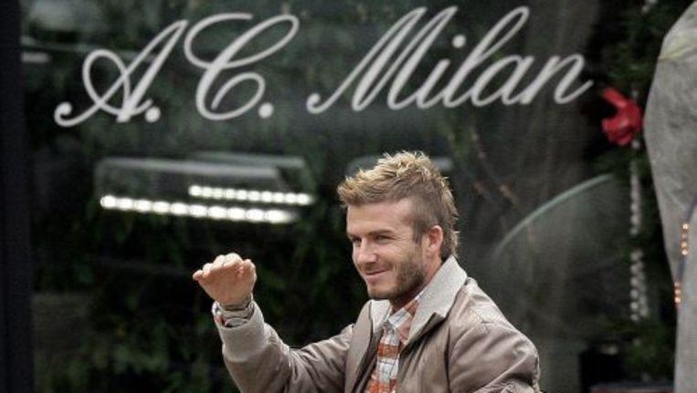David Beckham speelt inmiddels weer bij AC Milan. Foto ANP Beeld