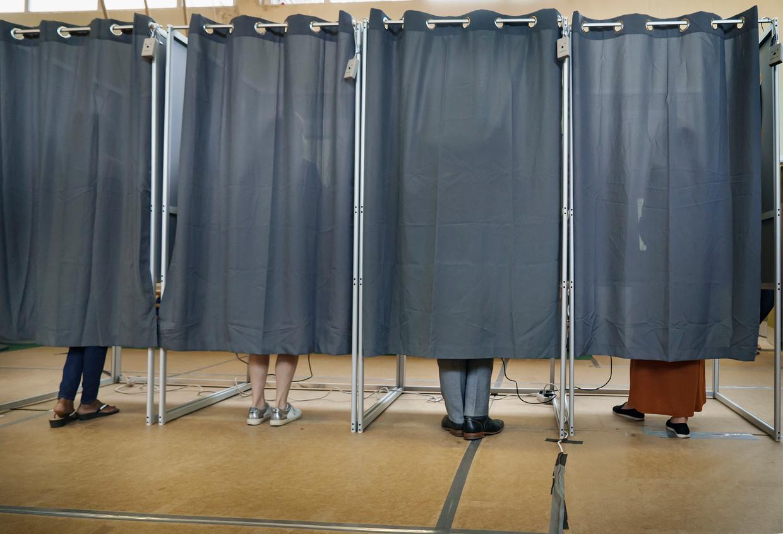 Een stemlokaal in Deurne bij de laatste verkiezingen.