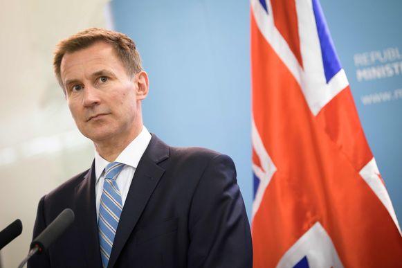 De Britse minister van Buitenlandse Zaken Jeremy Hunt