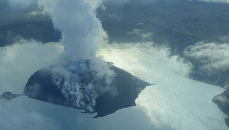 De vulkaan is enkele dagen geleden opnieuw actief geworden.