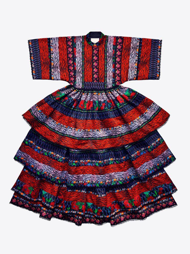 Deze jurk zal volgens de hoofdontwerpster van H&M als zoete broodjes over de toonbank gaan ((€ 399)