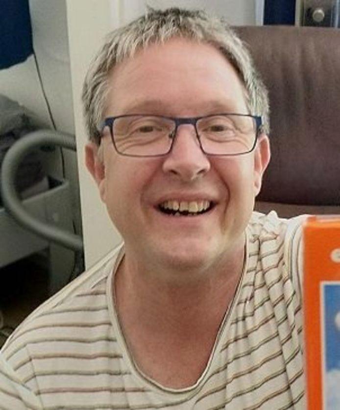 De vermiste Gerard Willemsen (52) uit Druten.