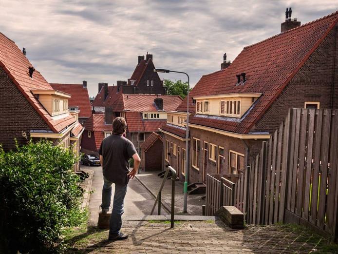 Mark ziet uit over de daken van de Sint Josephstraat. Foto: Riënne Wopereis.