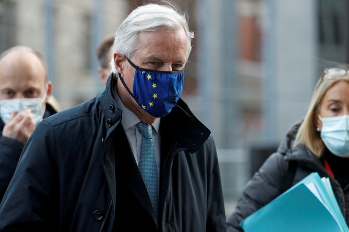 Hoofdonderhandelaar voor de EU Michel Barnier.