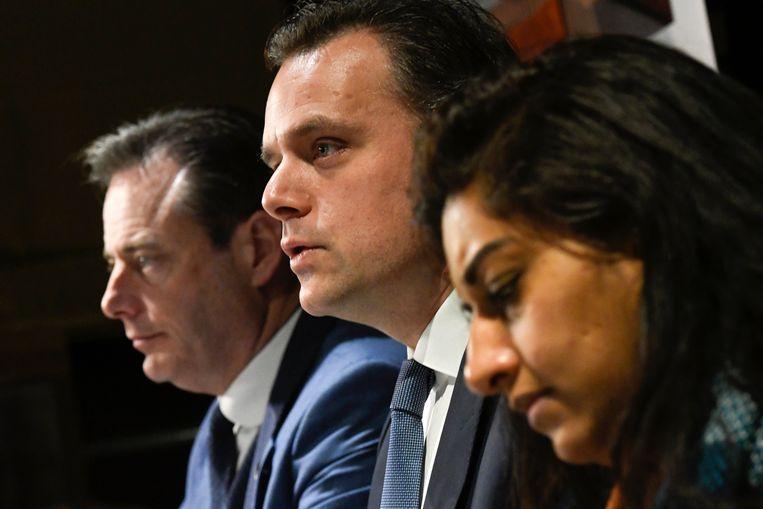Bart De Wever, Jinnih Beels en Philippe De Backer kunnen weldra van start gaan met de Bourgondische coalitie.