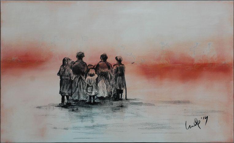 Olieverfschilderij Linda Van der Meeren