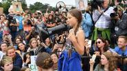 Greta Thunberg woont klimaatstaking in Iowa City bij