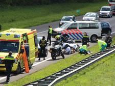 Motorrijders Satudarah onderuit op snelweg bij Barneveld