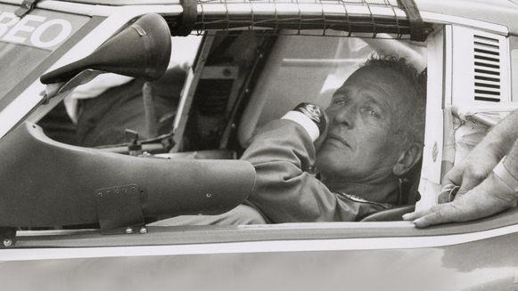Acteur Paul Newman met zijn Rolex Cosmograph Daytona.