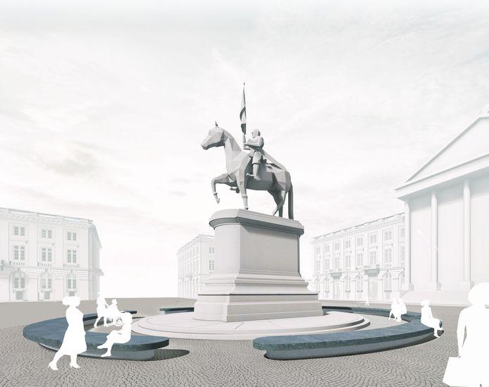 Het Koningsplein in het centrum van Brussel wordt voor 80 procent autovrij.