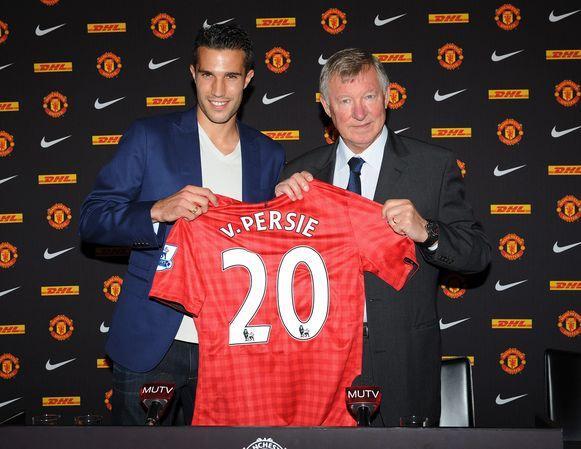 Robin Van Persie en Sir Alex Ferguson