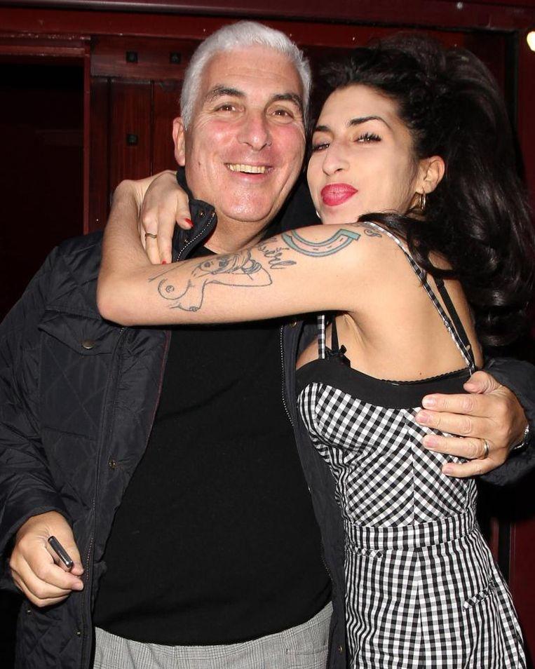 Amy Winehouse en haar vader Mitch.
