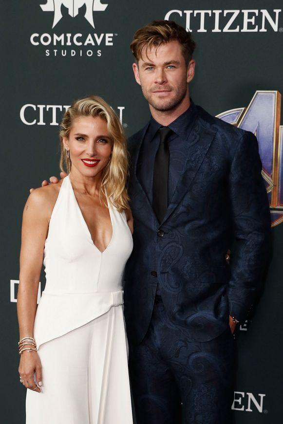 Chris Hemsworth met zijn vrouw Elsa Pataky.