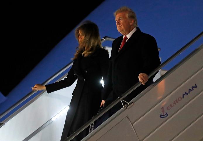 De Amerikaanse president Donald Trump en zijn vrouw Melania zijn vrijdagavond gearriveerd in Parijs voor de herdenking van het einde van de Eerste Wereldoorlog, honderd jaar geleden.
