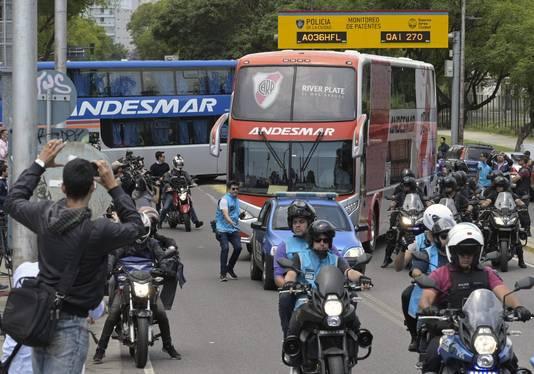 De spelersbus van River Plate.