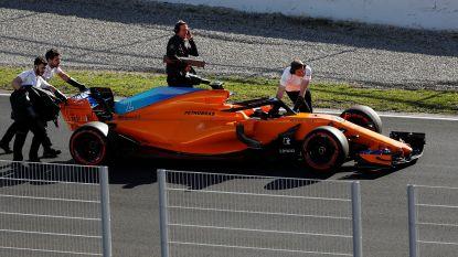 Tweede testweek begint slecht voor Vandoorne: McLaren valt stil in voor- én namiddag door elektrisch probleem