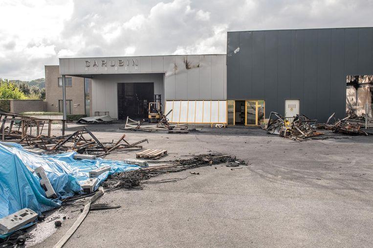 De brand heeft bij Carubin een enorme schade veroorzaakt.