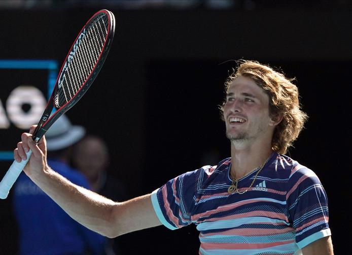 Alexander Zverev kan zijn geluk niet op na het bereiken van de halve finale van de Australian Open.
