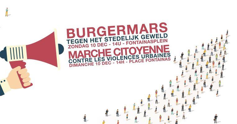 De burgermars vindt plaats op 10 december vanaf 14 uur op het Fontainasplein.