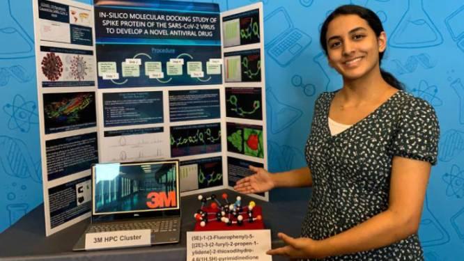 14-jarige wint wetenschapsprijs voor ontdekking die mogelijk tot geneesmiddel voor Covid-19 kan leiden