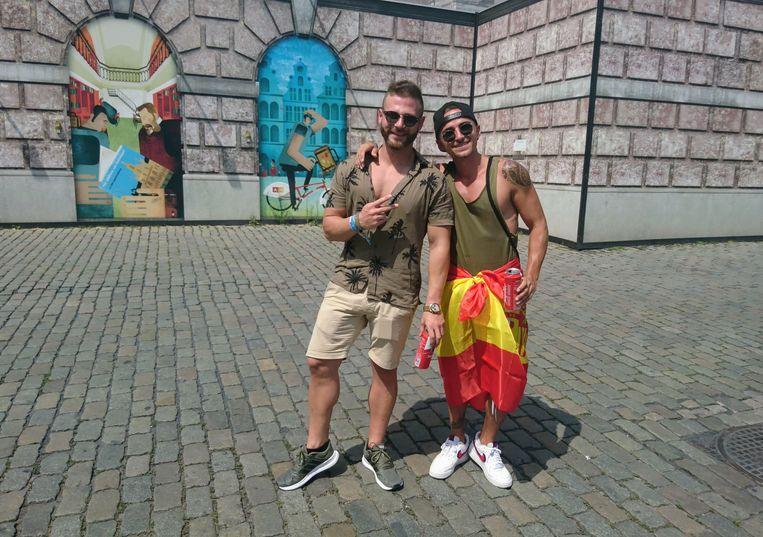 Marcos en Ruben uit Spanje op de Grote Markt.