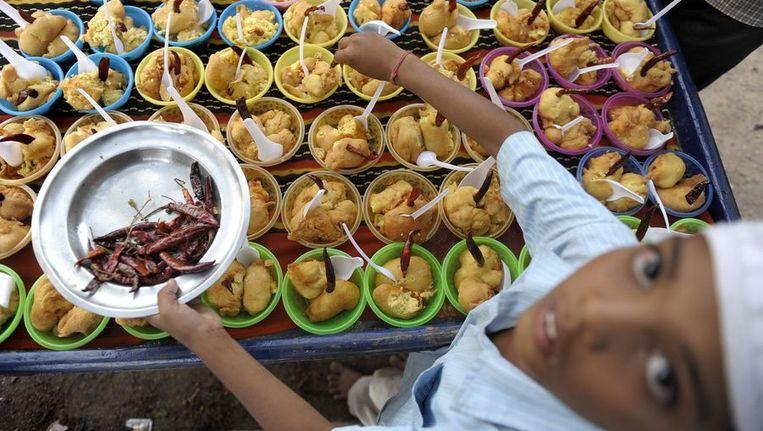 Indiaas eten (foto heeft geen verband met de voedselvergiftiging). Beeld afp
