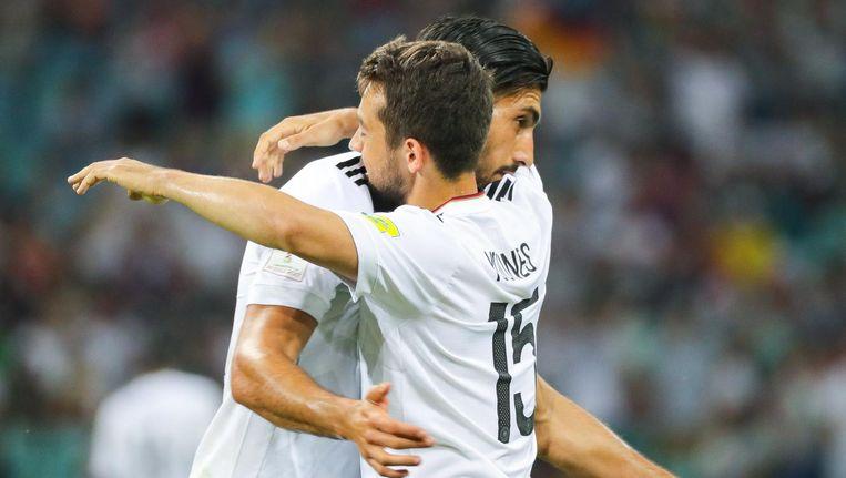 Duitsland bereikte donderdag mede door een treffer van Ajacied Amin Younes de finale van de Confederations Cup. Beeld anp