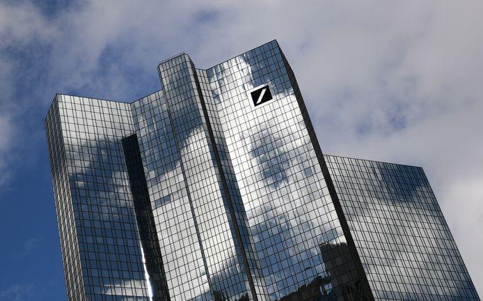 Hoofdkantoor van Deutsche Bank in Frankfurt.