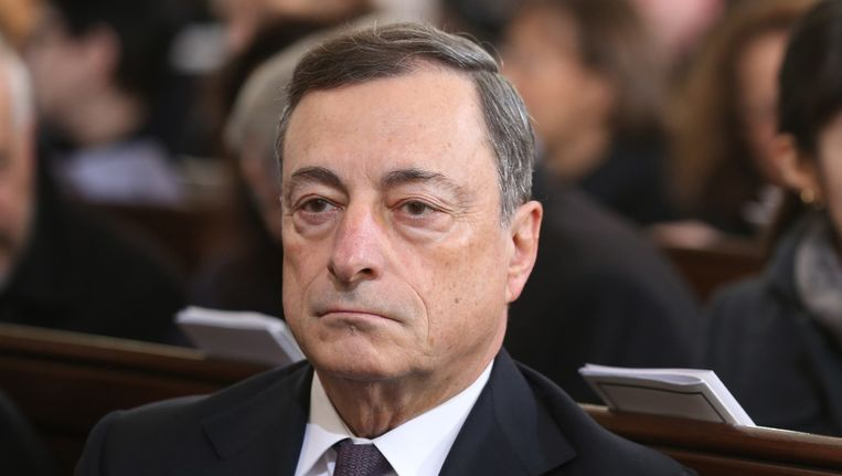 Mario Draghi, president van de Europese Centrale Bank Beeld afp