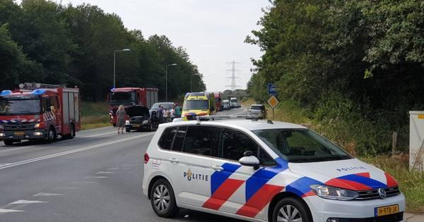 N35 bij Enschede afgesloten na ongeluk.