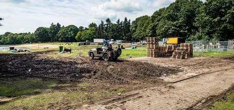 Terrein Hulsbeek in slechte conditie na festival en regenval