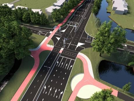 Volgende maand aanpak kruispunt Hollandbaan - Waardsebaan in Woerden