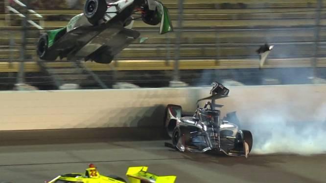 """Heftige crash in IndyCar Series: """"Veiligheidsscherm heeft zijn leven gered"""""""