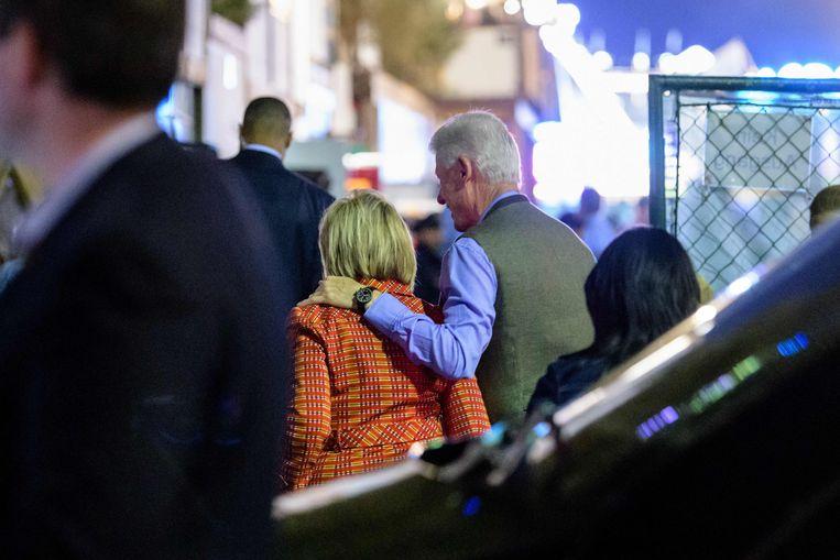 De voormalige Amerikaanse president en zijn echtgenote arriveren op het 185ste Oktoberfest in München.