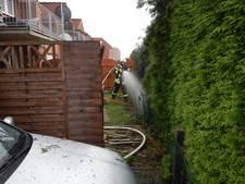 Brandweer rukt uit voor hegbrand in Vreden