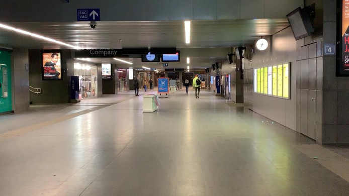 Staking Brugge: leeg station