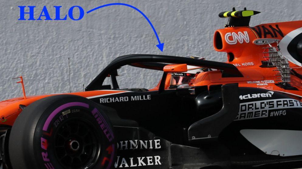 Onze F1-watcher in Abu Dhabi ziet hoe Stoffel Vandoorne de 'halo' uitprobeert