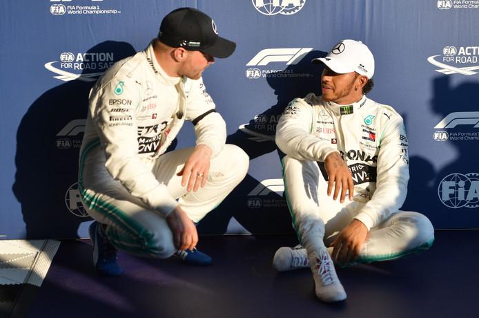 Valtteri Bottas  en Lewis Hamilton.