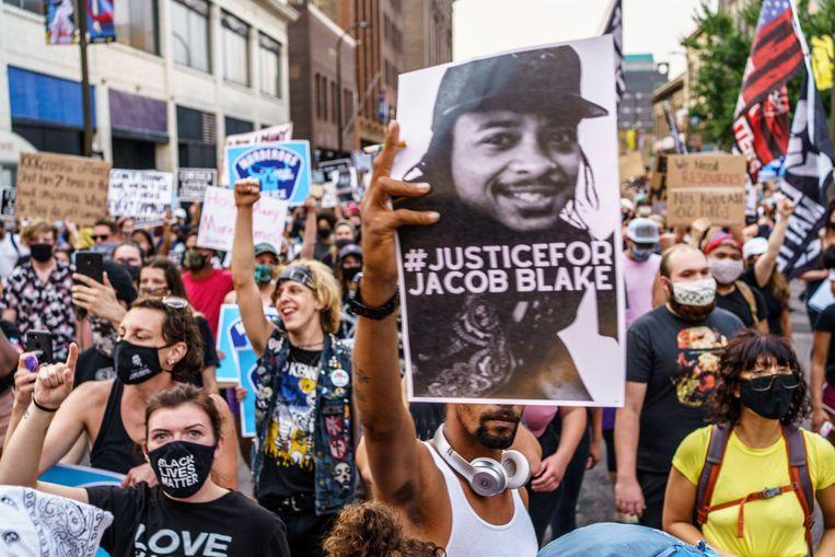 Protesten in Minneapolis, Minnesota. Beeld Hollandse Hoogte / AFP
