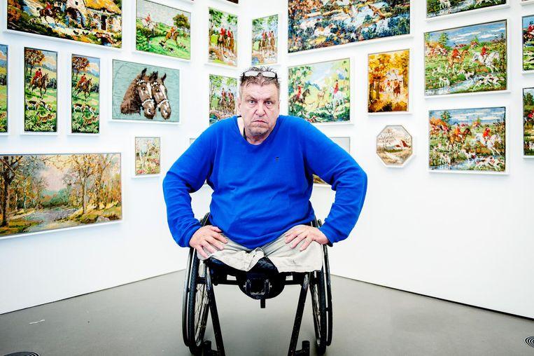 Kunstenaar Rob Scholte in Museum de Fundatie, april 2016. Beeld anp