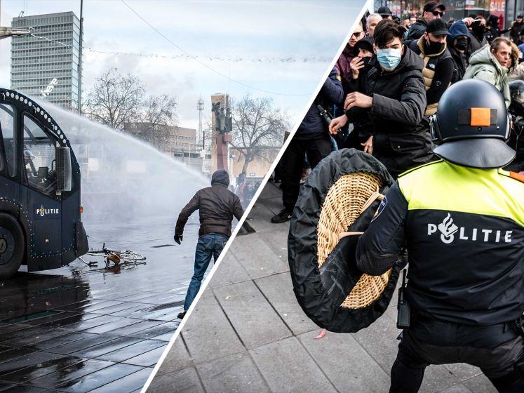 Eindhoven lijkt oorlogsgebied: relschoppers gooien met messen, politie gebruikt traangas