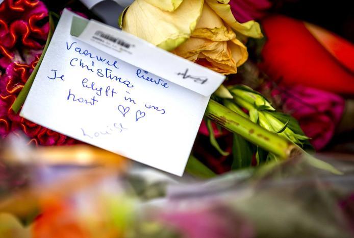 Bloemen voor prinses Christina.