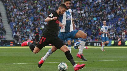 Atlético en Carrasco komen niet verder dan een gelijkspel op het veld van rode lantaarn Espanyol
