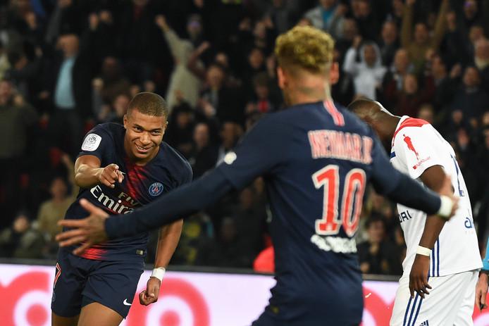 Kylian Mbappé is op weg naar Neymar. Beiden hebben al acht keer gescoord in de Franse competitie.