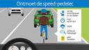 Het ministerie van Infrastructuur en Milieu liet informatiemateriaal maken over de speed-pedelec.
