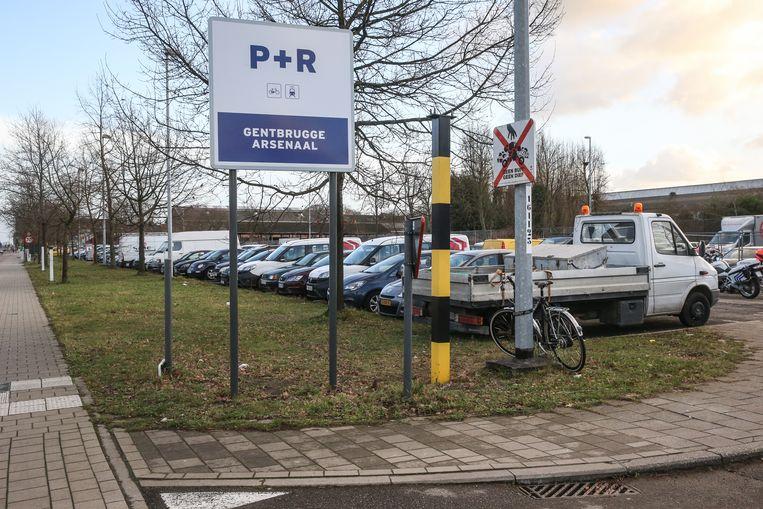 P+R Arsenaal in Gentbrugge.