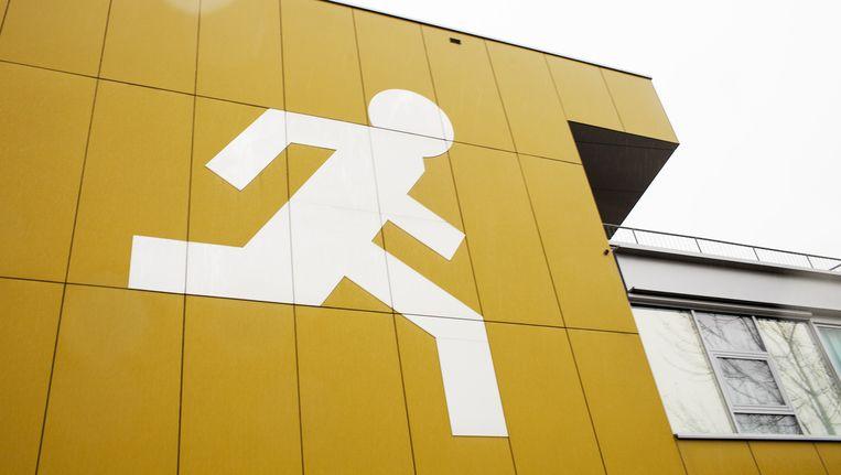 DE TU Delft, waar vluchtgedrag wordt onderzocht. Beeld Renate Beense